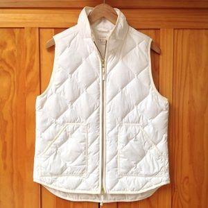 J. Crew | Cream Quilted Puffer Vest